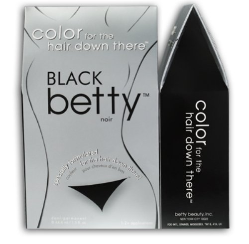 Betty Beauty Black Betty - Color for The Hair Down There Hair Coloring Kit
