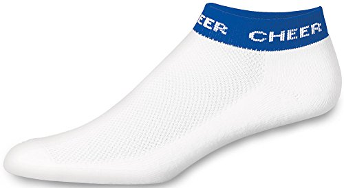 Chassé Girls' In-Stock Low Anklet With Cheer Stripe Socks - Royal Blue Youth ()