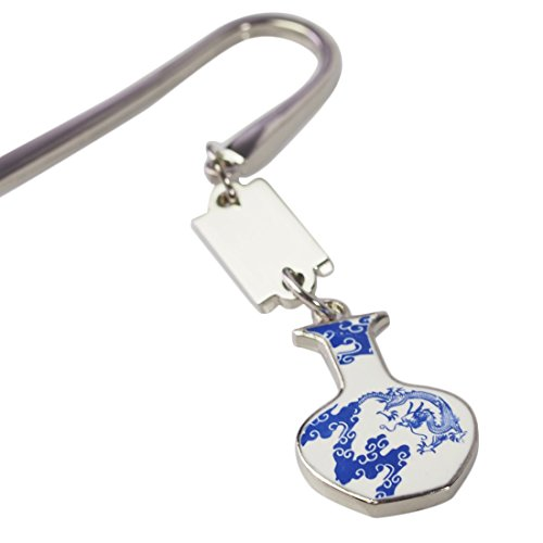 kilofly Metal Hook Bookmark with Chinese Porcelain Pendant Value Pack [Set of 3] Photo #4