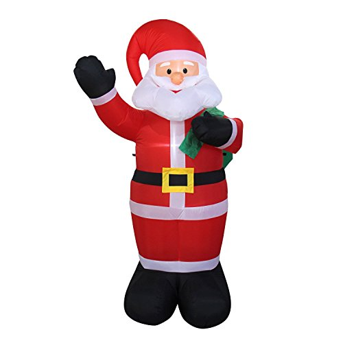 UHMei Inflatables Portable Christmas Santa Claus, Carry a Gift Bag for Home Garden Indoor Outdoor Lawn Yard (Singin In The Rain Movie Costumes)