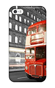 Hot London Bus First Grade Tpu Phone Case For Iphone 5/5s Case Cover