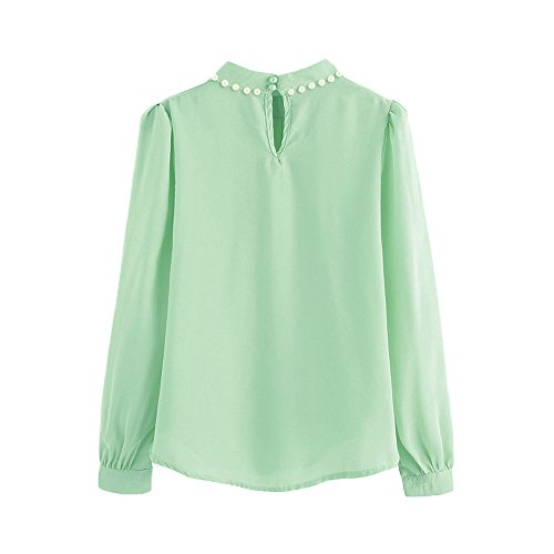 Big Sale, Yeto Women Casual Plus Size Tops Shirt V Neck Retro Print Daily Vintage Loose Blouse Light Green -