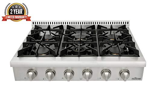 """Thor Kitchen 36"""" Stainless Steel Gas Rangetop Gas Stove Top"""