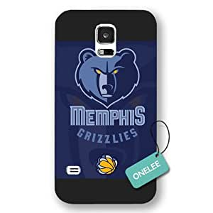 Onelee(TM) - NBA Team Memphis_Grizzlies Logo Samsung Galaxy S5 Case & Cover - Black Frosted