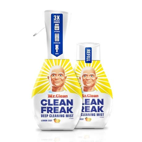 Mr. Clean Freak Deep Cleaning Mist Multi-Surface Spray Lemon Zest Bundle, 1 Starter + 1 Refill by Mr Clean Freak (Image #6)
