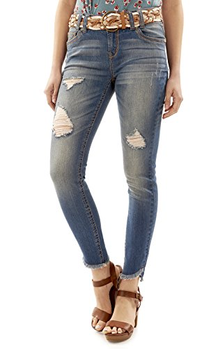 Juniors Belted Jeans - 4