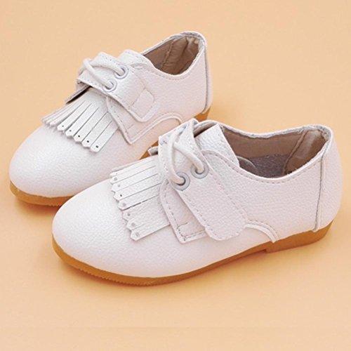 Igemy Baby Mädchen Mode Prinzessin Leder Tanzen Schuhe White
