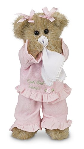Bearington Sicky Vicky Get Well Soon Stuffed Animal Teddy Bear, 10""