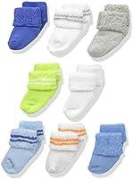 Luvable Friends Baby Boys' 8 Pack Newborn Socks