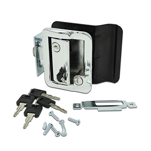 RV Travel Trailer Entry Door Lock Polar Chrome Paddle Deadbolt (Parts Trailer Replacement Travel)
