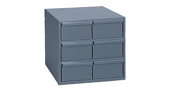 11-3//4 Width x 10-7//8 Height x 11-5//8 Depth 6 Drawer Durham 001-95 Gray Cold Rolled Steel Vertical Storage Cabinet