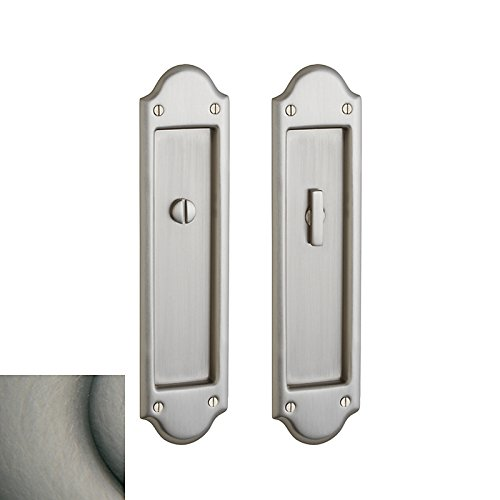 (Baldwin PD016.PS Boulder Style Pocket Door Passage Trim Pair from the Estate Col, Antique Nickel)
