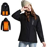Venustas Women's Electric Heated Jacket with Hood Waterproof Wind Resistant and Anti-fouling (several colors)