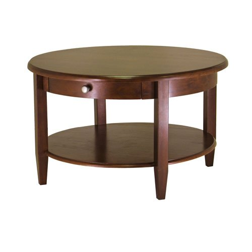 HomyDelight Concord Coffee Table - Antique Walnut 46 lbs 30