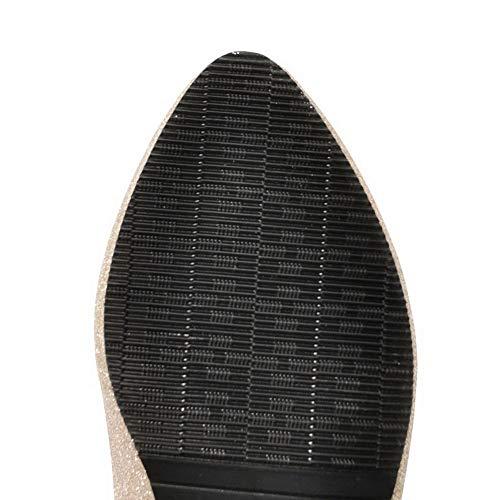 Basso Ballet AgooLar Puro Donna Oro Flats GMMDB006243 Tirare Tacco wq1OAPx1p