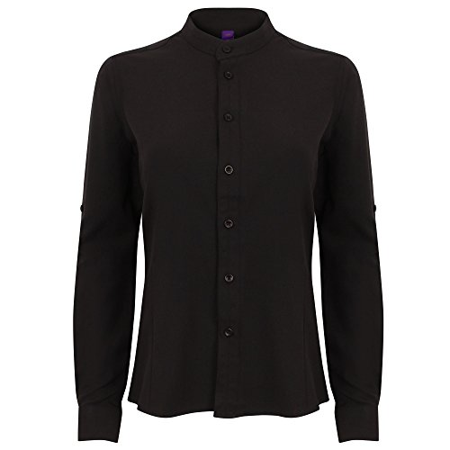 Henbury - Camisas - Manga Larga - para mujer negro
