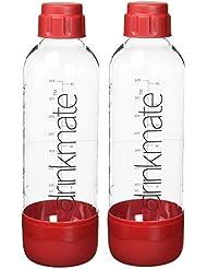 Drinkmate 1L Carbonating Bottles - Red (2 Pack)