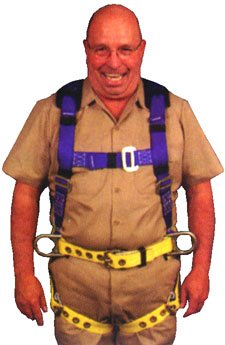 Elk River 75304 WorkMaster Polyester/Nylon 3 D Ring Harness with Tongue Buckles, X-Large by Elk River