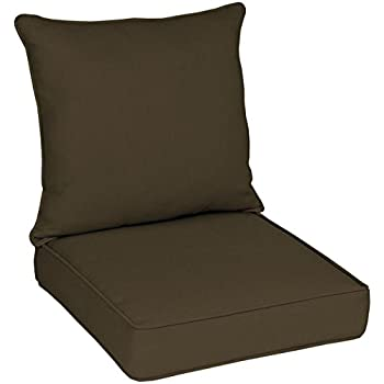 Outdoor Welted Deep Seat Cushion Seat: 24x24x 5.5; Back: 22.5x25x6  Polyester