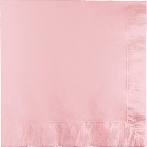 Creative Converting 240-Count Touch of Color Paper Cocktail Napkins, Classic Pink - 419528 (Pink Napkins Classic Beverage)