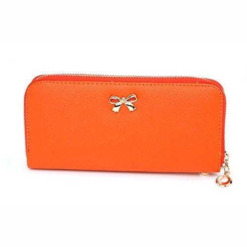 fashion-women-zipper-bowknot-purse-solid-wearable-wallet-purse-handbag-orange