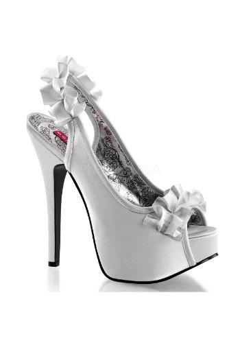 Sandales Argent UK Silver 8 Satin femme TEEZE pour 56 Bordello wXEZaE