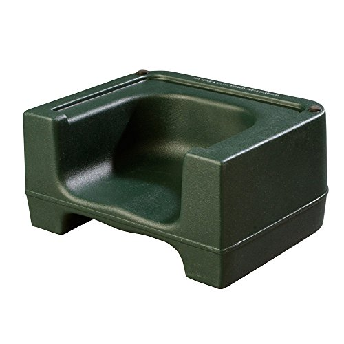 Booster Plastic - Carlisle 711008 Plastic Dual Seat Restaurant-Style Booster Chair, Forest Green