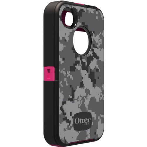 OtterBox Defender Series Case and Holster for iPhone 4/4S - Retail Packaging - Digi Pink
