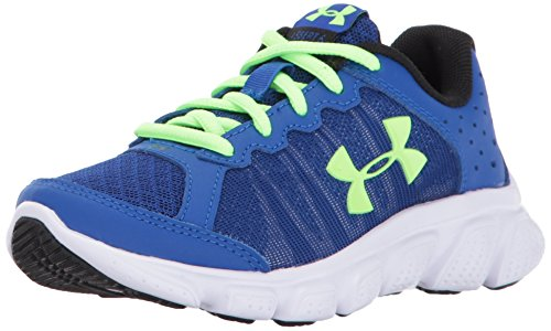 Under Armour Boys' Pre-School Assert 6 Running Shoes, Royal/White, 3 M US Little Kid