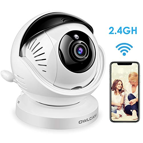 Owlcam Indoor WiFi IP Camera, 1080P/30FPS Wireless Smart Home Video Security Surveillance Camera for Baby/Elder/Pet/Nanny Monitor with Pan/Tilt, Two-Way Audio, Night Vision, Sound &Motion&Temperature