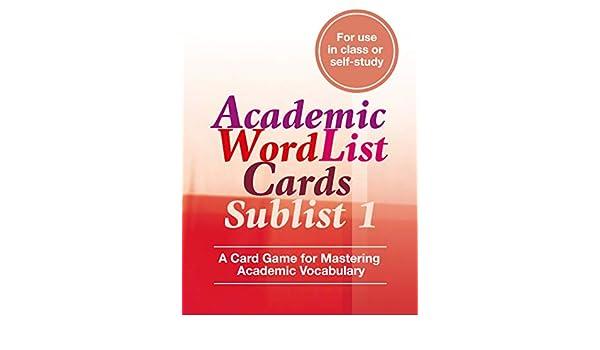 Academic Word List Cards