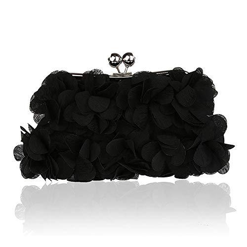 club cosmetico di Joy seta per di feste delle matrimoni notturne signora Purple di di donne Miss Black Color sera del Sacchetto della di fiore sera delle borse per banchetto frizioni delle BEdEwTq