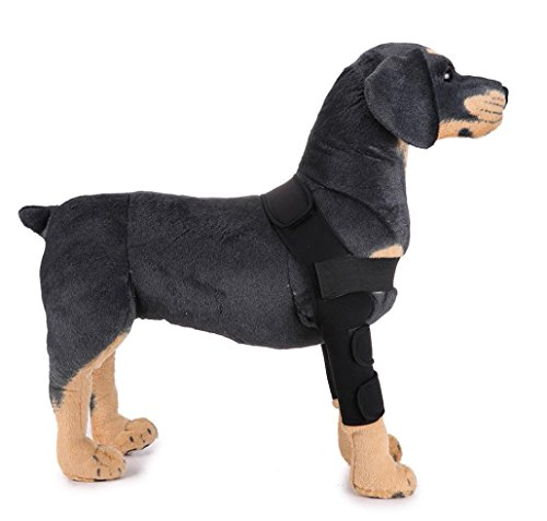 Dog Leggings Set, Neartime Elbow Protector Extra Supportive Leg Hock Joint Wrap Protect (Black, S) ()
