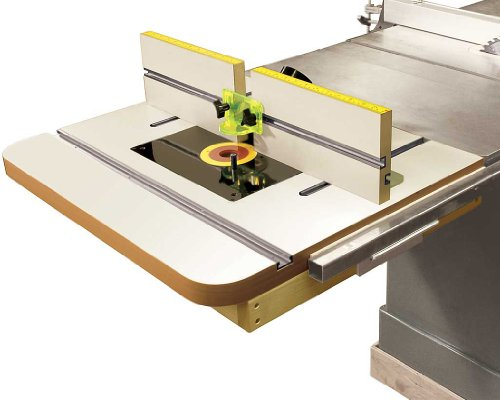 MLCS 2394 Extension Router Table Top & Fence with Universal Router Plate