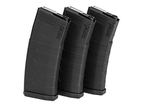 KWA K120C Adjustable ERG/AEG2.5/AEG3 Mid‐Cap Airsoft Magazines ‐ 3 Pack by KWA