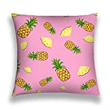 Tyuyui Pillow Cases Fruits Pineapple Seamless Patterns Vector Cartoon Fresh Flat Style Pattern Food Summer Design Wallpaper Grey tempurpedic