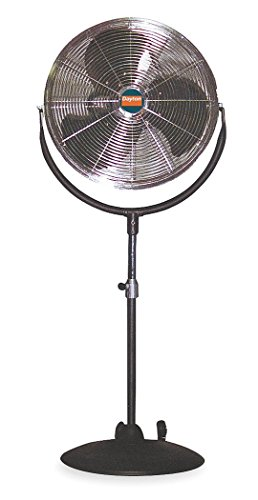 Dayton 1ANZ7 Air Circulator, 20 In, Pedestal Mount, 115v ()