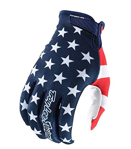 - Troy Lee Designs Air Americana Men's Off-Road Mountain Bike Gloves - Navy/Red / Large