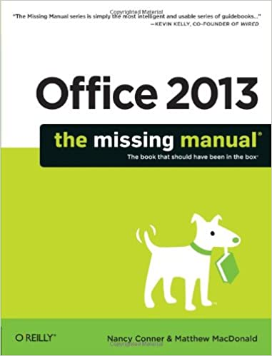 The Missing Manual Office 2013