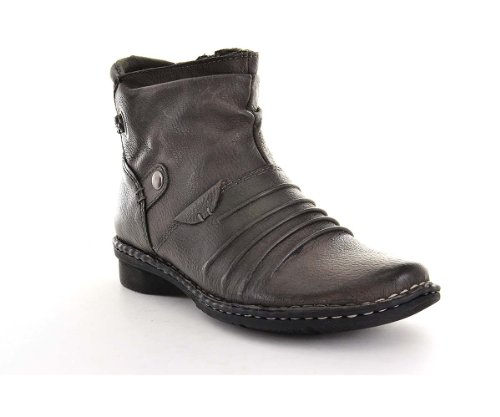 Earth Orgins Women's Mira Side Zip Ankle Boot (6, Stormy ...