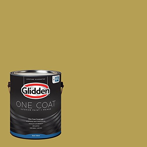 Glidden Interior Paint + Primer: Yellow Interior Paint /Woolen Mittens, One Coat, Semi-Gloss, 1 Gallon