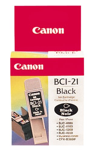 Canon Multipass C530 Inkjet (Canon BCI-21 Ink Tank - Twin Pack (Black) (0954A370))