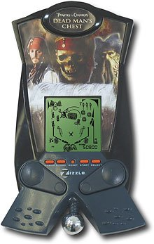 - Electronic Zizzle Pirates of Caribbean Dead Man's Chest Handheld Pinball Game