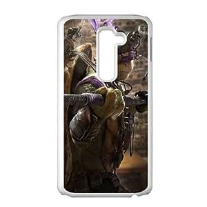 Teenage Mutant Ninja Turtles LG G2 Cell Phone Case White hem