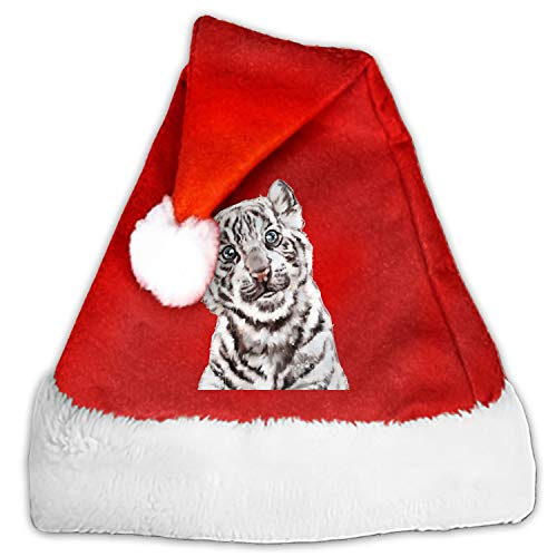 Little Tiger Santa Hat-Christmas Costume Classic Hat for Adult ()