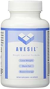 Avesil Weight Control Diet Pills - Dietary Supplement - Green Tea Extract - Chromium Chromate - Garcinia Mangostana   60 Caps