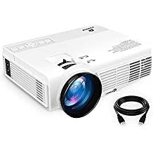 """ViviMage C3 20%+Brightness Mini LED Projector 1080P HD Supported 170"""" Display Outdoor Movie Home Theater Video Projector, Support HDMI, Amazon Fire TV Stick, PS4, USB (HD) (1080P HD)"""