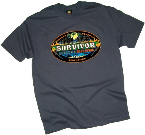 Survivor -- Heroes vs. Villains Adult T-Shirt, X-Large (Heroes And Villains Clothing)