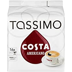 Tassimo Costa Americano 16 T Discs, (Large Cup Size) 16 Servings