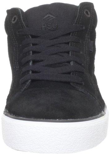 Emerica HSU 2 FUSION 6102000064 - Zapatillas de ante unisex Black/White/Gum
